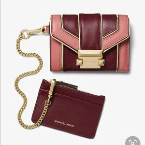 MK Whitney Small Quilted Leather Chain Wallet